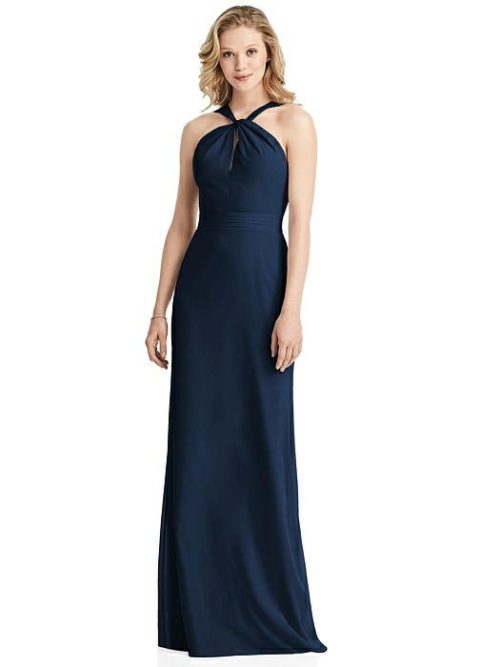 Twist Halter Dress by Jenny Packham - Midnight