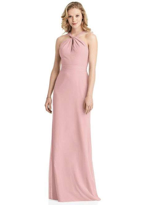 Twist Halter Dress by Jenny Packham - Rose