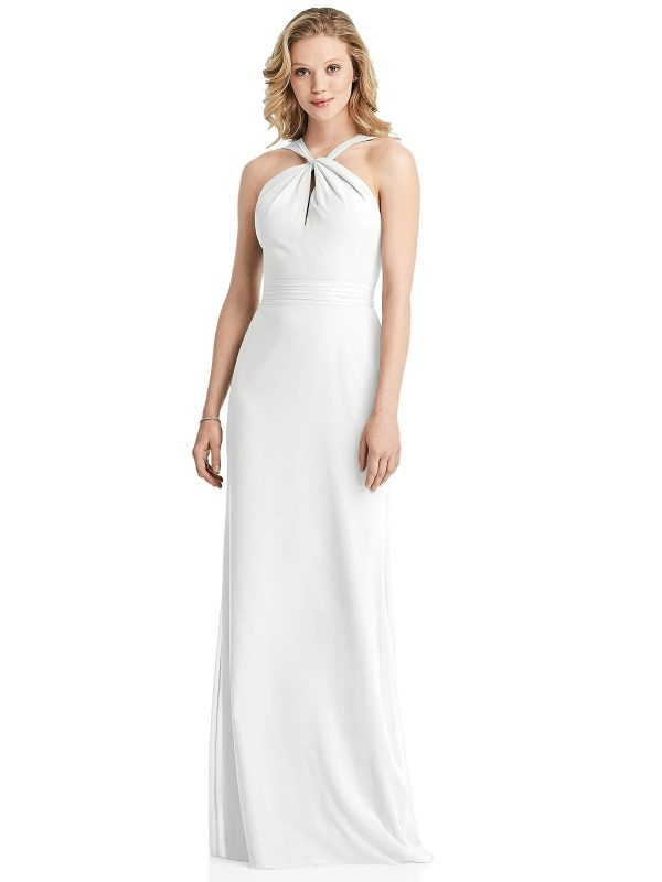 Twist Halter Dress by Jenny Packham - White