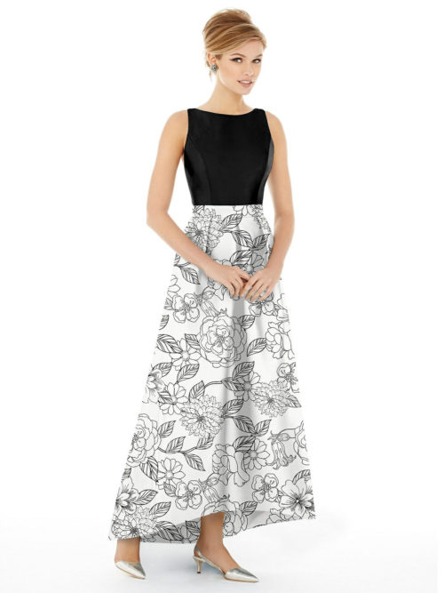 Sateen Twill Dress by Alfred Sung - Botanica