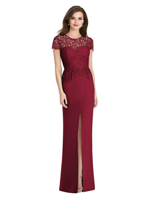 Marquis Lace Dress by Jenny Packham - Burgundy