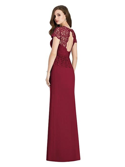 Marquis Lace Dress by Jenny Packham - Burgundy