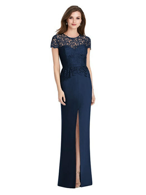 Marquis Lace Dress by Jenny Packham - Midnight