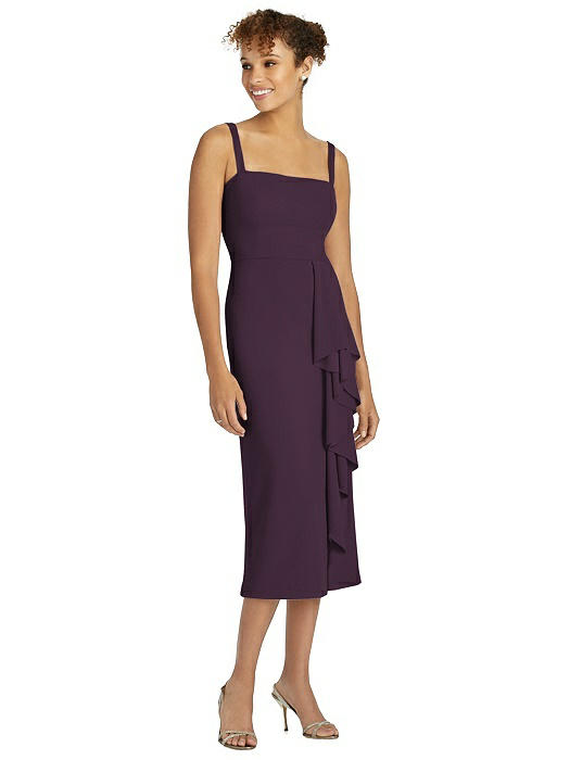 After Six Cocktail Pencil Dress by Dessy - Aubergine