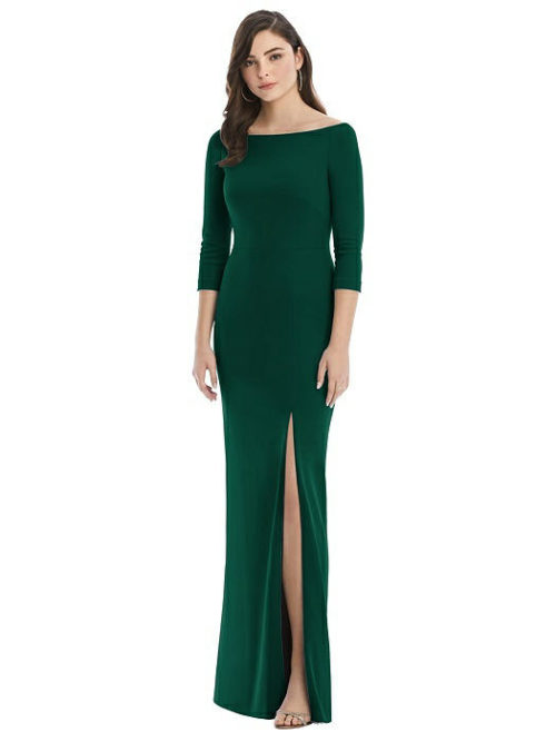 After Six 3/4 Sleeve Gown by Dessy - Hunter