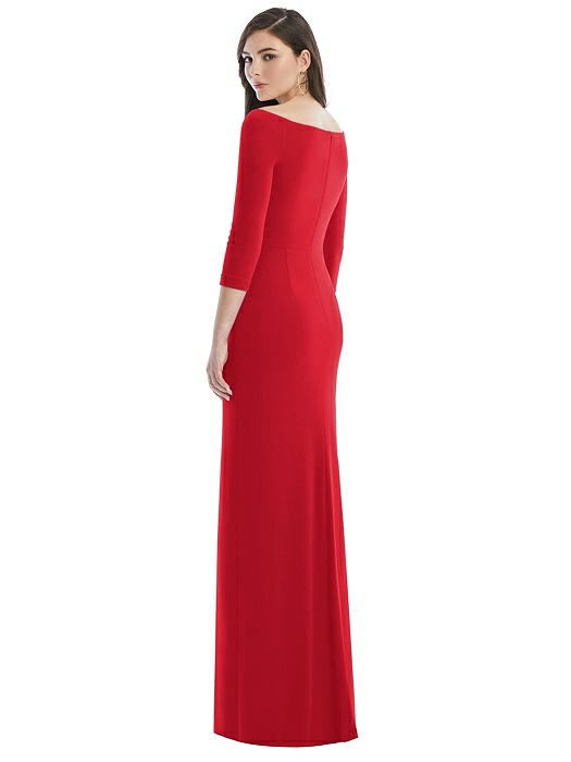 After Six 3/4 Sleeve Gown by Dessy - Parisian Red