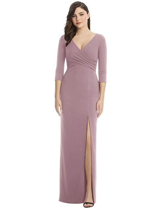 After Six 3/4 Sleeve Gown by Dessy - Dusty Rose