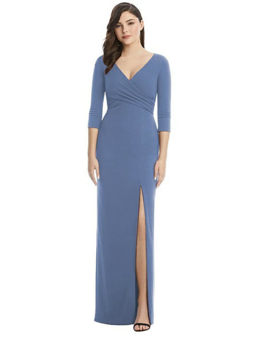 After Six 3/4 Sleeve Gown by Dessy - Larkspur
