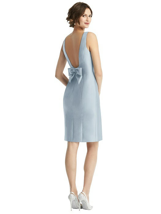 Open Back with Bow Dress by Alfred Sung - Mist