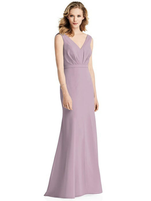 Cowl Back Chiffon Dress by Jenny Packham - Suede Rose