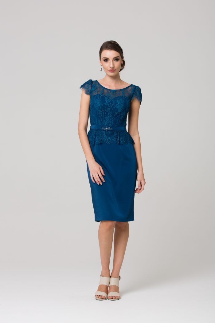 Angelica Cocktail Dress by Tania Olsen - Teal