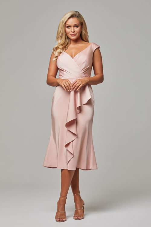 Gabrielle Cocktail Dress by Tania Olsen -Rose