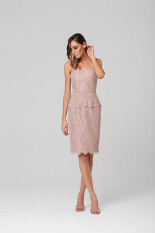 Tabitha Cocktail Dress by Tania Olsen - Blush