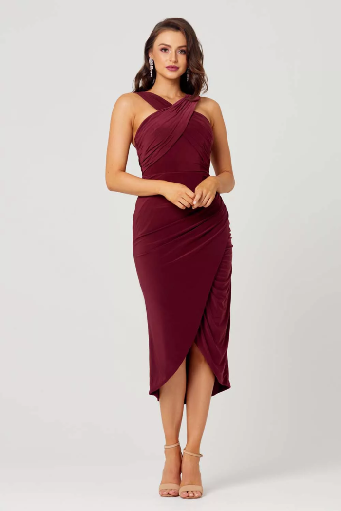 Kelly Dress by Tania Olsen - Wine