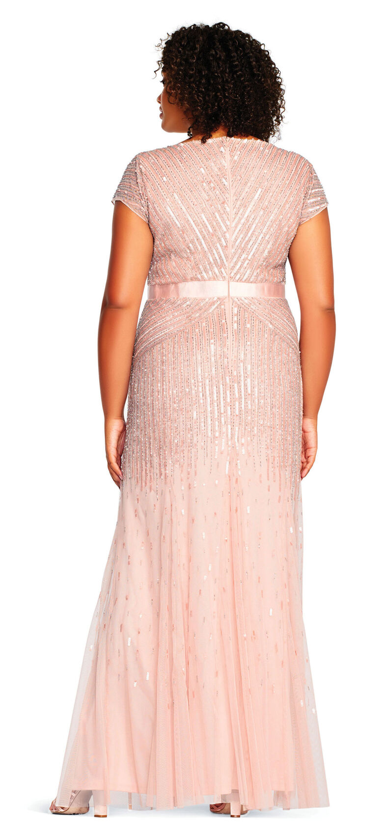 Adrianna Papell | Beaded V-Neck Gown | Beautiful evening