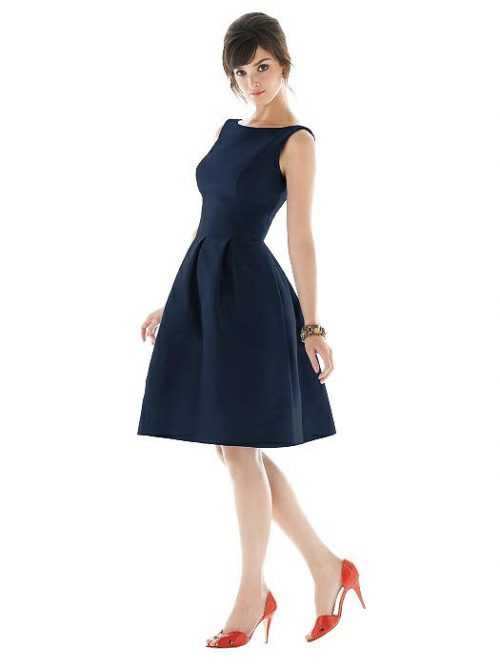 DISCONTINUED TBYB Alfred Sung Cocktail Gown - Midnight Blue