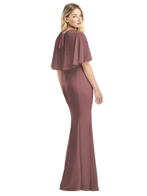 Jewel-Trimmed Capelet Gown by Jenny Packham - English Rose