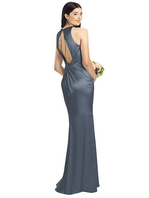 Sleeveless Open Twist-Back Dress by Dessy - Silverstone