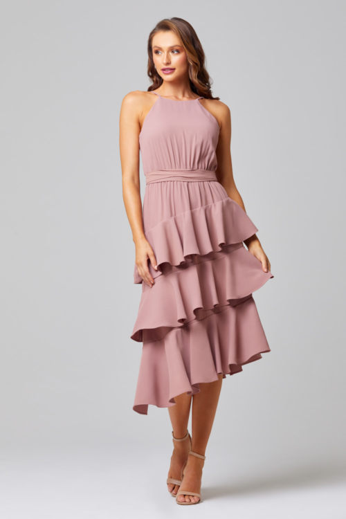 Ariel Cocktail Dress by Tania Olsen - Mauve