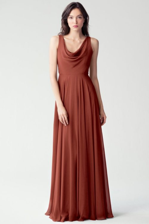 Liana Cowl Neck Dress by Jenny Yoo - English Rose