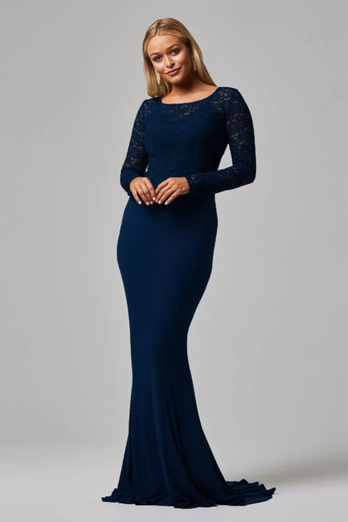 Shivani Lace Dress by Tania Olsen - Navy