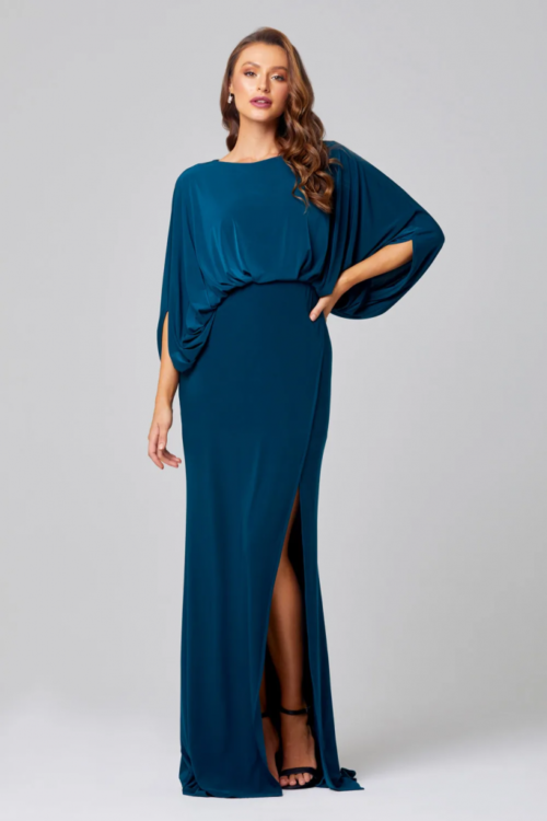 Cleo Cape Sleeve Dress by Tania Olsen - Teal