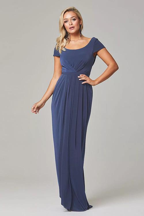 Gloria Cap Sleeve Dress by Tania Olsen - Dusty Indigo