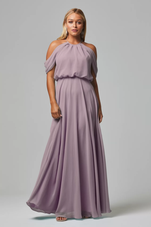 Kassidy Chiffon Gown by Tania Olsen - Oyster