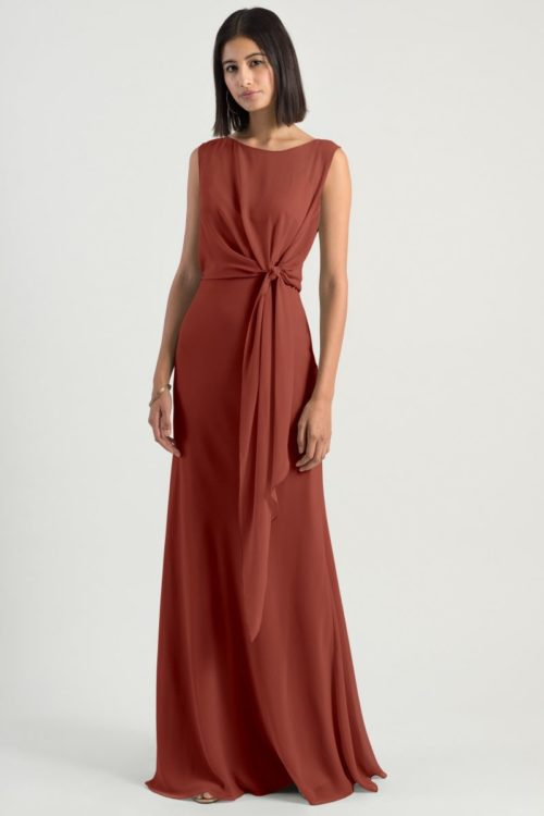 Paltrow Chiffon Dress by Jenny Yoo - English Rose
