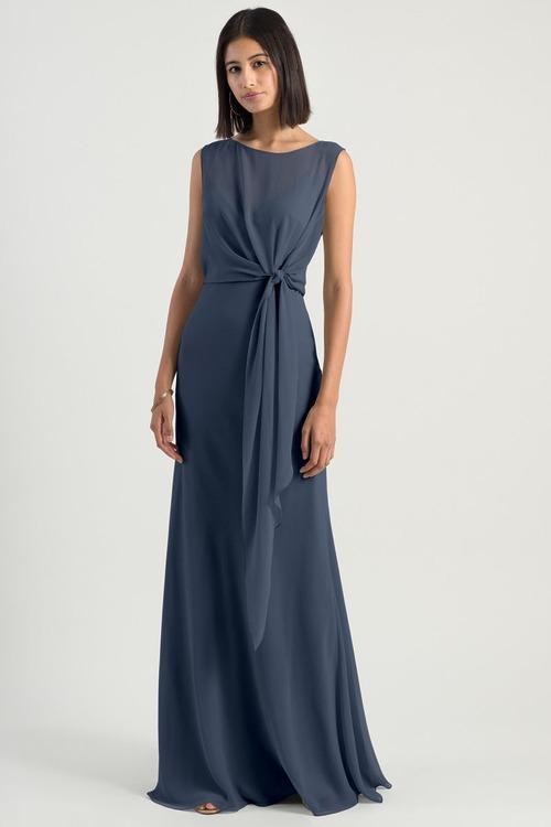 Paltrow Chiffon Dress by Jenny Yoo - Evening Blue