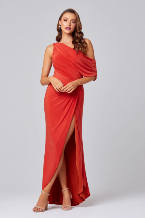Polly Asymmetrical Dress by Tania Olsen - Burnt Orange