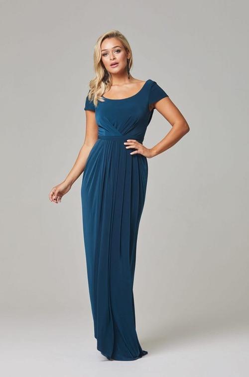 Gloria Cap Sleeve Dress by Tania Olsen - Teal